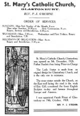 Order of Service 1931